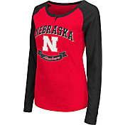 Colosseum Athletics Women's Nebraska Cornhuskers Scarlet Healy Long Sleeve Shirt