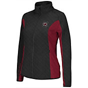 Colosseum Athletics Women's South Carolina Gamecocks Black/Garnet Alpine Quilted Full-Zip Jacket