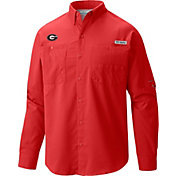 Columbia Men's Georgia Bulldogs Red Tamiami Long Sleeve Shirt