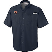 Columbia Men's Auburn Tigers Blue Tamiami Performance Shirt