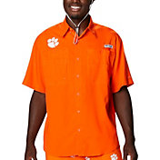Columbia Men's Clemson Tigers Orange Tamiami Performance Shirt