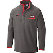 Columbia Men's Ohio State Buckeyes Grey/Red Harborside Fleece Pullover