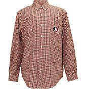 Campus Specialties Men's Florida State Seminoles Multi-Checkered Woven Long Sleeve Shirt