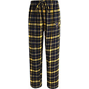 Concepts Sport Men's West Virginia Mountaineers Blue/Gold Ultimate Plaid Sleep Pants