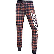 Concepts Sports Women's Chicago Bears Navy/Orange Flannel Jogger Pants