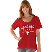 Touch by Alyssa Milano Women's Texas Rangers Red Scoop Neck T-Shirt