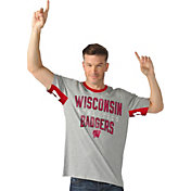 Hands High Men's Wisconsin Badgers Grey Cut Back T-Shirt