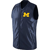 Jordan Men's Michigan Wolverines Blue Hyperelite 2.0 Basketball Game Vest