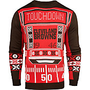 KLEW Men's Cleveland Browns Light Up Ugly Sweater