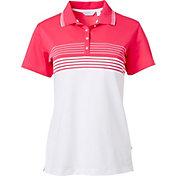 Lady Hagen Women's Bon Voyage Collection Engineered Stripe Golf Polo