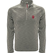 Levelwear Men's Indiana Hoosiers Grey Mobility Long Sleeve Quarter-Zip Shirt