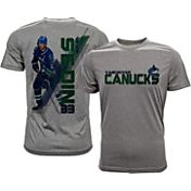 Levelwear Men's Vancouver Canucks Henrik Sedin #33 Grey Spectrum T-Shirt