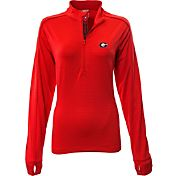 Levelwear Women's Georgia Bulldogs Red Pacer Quarter-Zip
