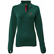 Levelwear Women's Minnesota Wild Pacer Green Quarter-Zip Shirt