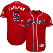 Majestic Men's Authentic Atlanta Braves Freddie Freeman #5 Alternate Red Flex Base On-Field Jersey w/ Turner Field Patch