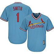 Majestic Men's Replica St. Louis Cardinals Ozzie Smith Cool Base Light Blue Cooperstown Jersey