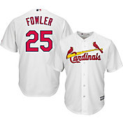Majestic Men's Replica St. Louis Cardinals Dexter Fowler #25 Cool Base Home White Jersey