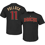 Majestic Men's Arizona Diamondbacks A.J. Pollock #11 Black T-Shirt