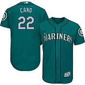 Majestic Men's Authentic Seattle Mariners Robinson Cano #22 Alternate Teal Flex Base On-Field Jersey