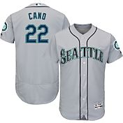 Majestic Men's Authentic Seattle Mariners Robinson Cano #22 Road Grey Flex Base On-Field Jersey