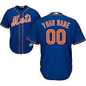 Majestic Men's Custom Cool Base Replica New York Mets Alternate Home Royal Jersey