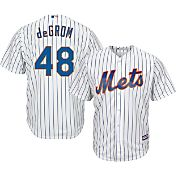 Majestic Men's Replica New York Mets Jacob deGrom #48 Cool Base Home White Jersey
