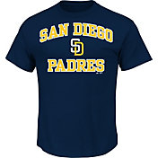 Majestic Men's San Diego Padres Heart & Soul Navy T-Shirt