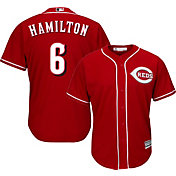 Majestic Men's Replica Cincinnati Reds Billy Hamilton #6 Cool Base Alternate Red Jersey