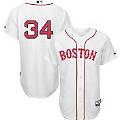 Majestic Men's Authentic Boston Red Sox David Ortiz #34 Cool Base Alternate White On-Field Jersey