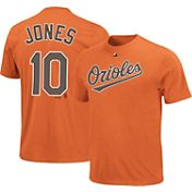 Majestic Triple Peak Men's Baltimore Orioles Adam Jones Orange T-Shirt
