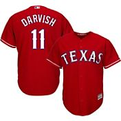 Majestic Men's Replica Texas Rangers Yu Darvish #11 Cool Base Alternate Red Jersey