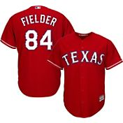 Majestic Men's Replica Texas Rangers Prince Fielder #84 Cool Base Alternate Red Jersey