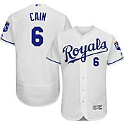 Majestic Men's Authentic Kansas City Royals Lorenzo Cain #6 Home White Flex Base On-Field Jersey