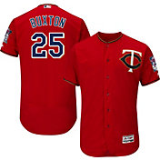 Majestic Men's Authentic Minnesota Twins Byron Buxton #25 Alternate Red Flex Base On-Field Jersey