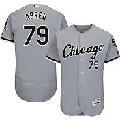 Majestic Men's Authentic Chicago White Sox Jose Abreu #79 Road Grey Flex Base On-Field Jersey