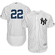 Majestic Men's Authentic New York Yankees Jacoby Ellsbury #22 Home White Flex Base On-Field Jersey