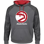 Majestic Men's Atlanta Hawks Hardwood Classic Therma Base Armour II Grey Hoodie