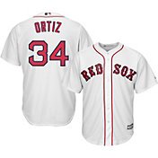 Majestic Boys' Replica Boston Red Sox David Ortiz #34 Cool Base Home White Jersey