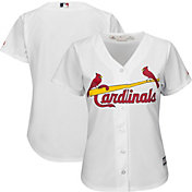 Majestic Women's Replica St. Louis Cardinals Cool Base Home White Jersey