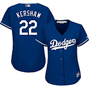 Majestic Women's Replica Los Angeles Dodgers Clayton Kershaw #22 Cool Base Alternate Royal Jersey