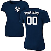 Majestic Women's Custom New York Yankees Navy T-Shirt