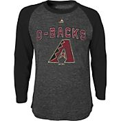 Majestic Youth Arizona Diamondbacks Black Raglan Long Sleeve Shirt