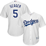 Majestic Youth Replica Los Angeles Dodgers Corey Seager #5 Cool Base Home White Jersey