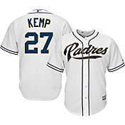 Majestic Youth Replica San Diego Padres Matt Kemp #27 Cool Base Home White Jersey