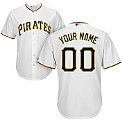 Majestic Youth Custom Cool Base Replica Pittsburgh Pirates Home White Jersey