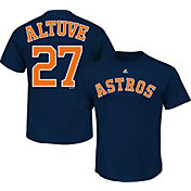 Majestic Youth Houston Astros Jose Altuve #27 Navy T-Shirt
