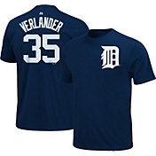 Majestic Youth Detroit Tigers Justin Verlander #35 Navy T-Shirt