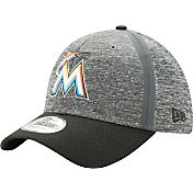 New Era Men's Miami Marlins 39Thirty Clubhouse Grey/Black Flex Hat