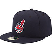 New Era Men's Cleveland Indians 59Fifty Alternate 2 Navy Authentic Hat