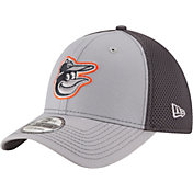 New Era Men's Baltimore Orioles 39Thirty Grayed Out Grey Flex Hat